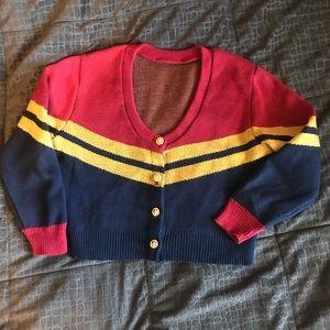 Retired Elhoffer design cropped corps cardigan